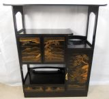SOLD - Japanese Lacquered Display Cabinet